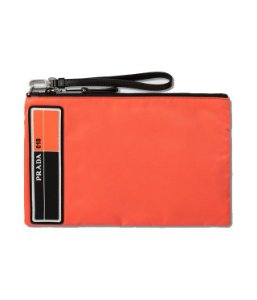 "ENCOMENDA - PRADA - Bolsa Fluro Logo Small ""Orange"""