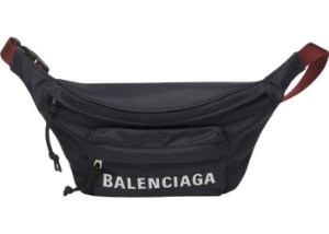 "ENCOMENDA - BALENCIAGA - Pochete Waist Wheel ""Navy/Red"""