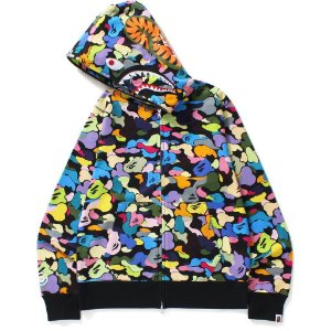 "BAPE - Moletom 1st Camo Shark Full Zip ""Multicolor"""