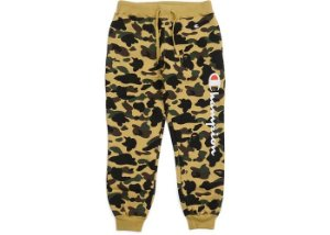 "Bape x Champion - Calça 1st Camo "" Yellow"""