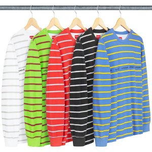 ENCOMENDA -  SUPREME - Camiseta Printed Stripe Pique