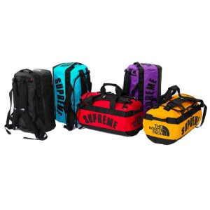 ENCOMENDA - Supreme x The North Face - Mala Duffle Arc Logo Small Base Camp