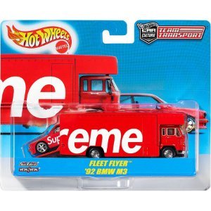 ENCOMENDA - Supreme x Hot Wheels - leet Flyer + 1992 BMW M3
