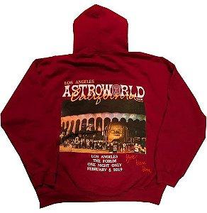 """TRAVIS SCOTT - Moletom Astroworld California """"Red"""" -USADO-"""