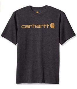 "CARHARTT- Camiseta Script Logo ""Carbon Heather"""