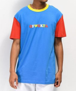 "ODD Future - Camiseta Colorblocked ""Blue/Yellow/Red"""