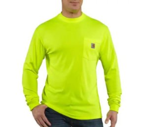 "CARHARTT- Camiseta Force Pocket ""Brite Lime"""