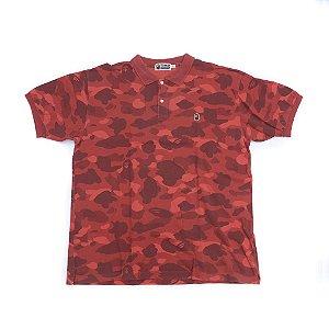 """BAPE - Camisa Polo Camo """"Red"""""""