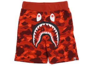 "BAPE - Bermuda Color Camo Shark ""Red"""