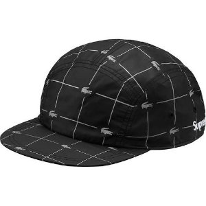 "Supreme x Lacoste - Boné Reflective Grid Nylon Camp ""Black"""