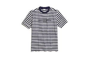 """Guess x Asap Rocky - Camiseta Logo GUE$$ """"White/Navy"""""""