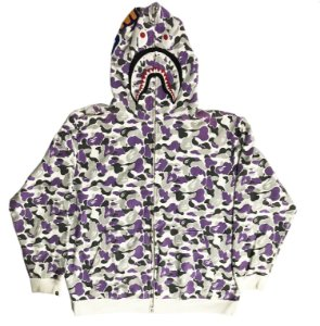 "BAPE - Moletom Shark Full Zip ""Purple/Grey"""