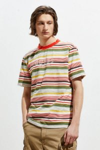 "GUESS - Camiseta Brighton Striped ""Red/Yellow/Green"""