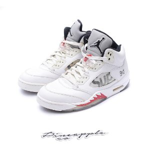 "Nike Air Jordan 5 Retro x Supreme ""White"""