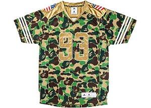 Bape x adidas - Camiseta Jersey Camo''Green''