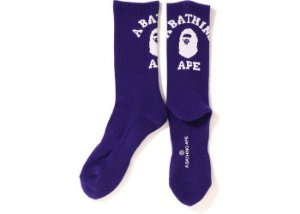 BAPE - Meias College ''Purple''