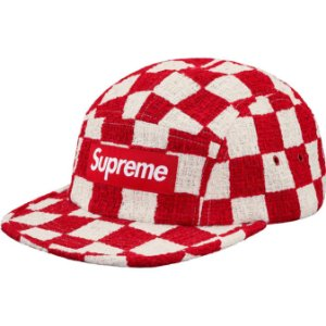 "SUPREME - Boné Checkerboard Bouclé ""Red"""