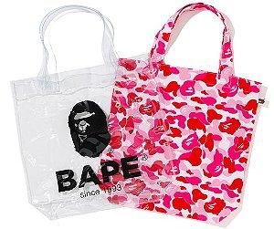 "BAPE - Bolsa ABC Clear Tote Bag ""Pink"""