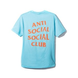 """ANTI SOCIAL SOCIAL CLUB - Camiseta Logo 2 """"Azul Claro"""" -NOVO-"""