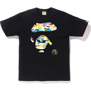 "BAPE - Camiseta Multi Camo Ape Face ""Black"""