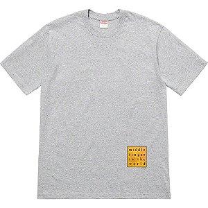"SUPREME - Camiseta Middle Finger To The World ""Grey"""