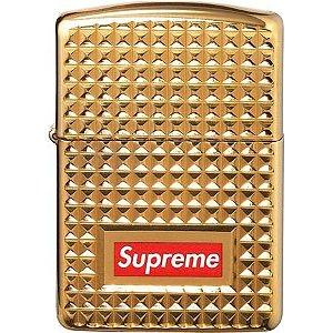"Supreme x Zippo - Isqueiro Diamond Cut ""Gold"""