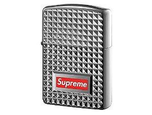 "Supreme x Zippo - Isqueiro Diamond Cut ""Silver"""