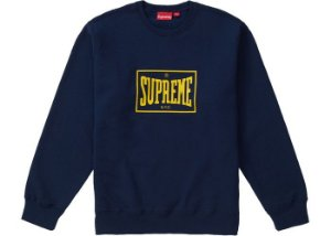 "SUPREME - Moletom Warm Up ""Navy"""