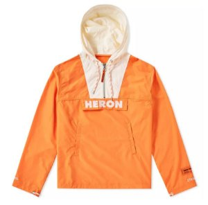"HERON PRESTON - Jaqueta Windbreaker Half Zip""Orange"""