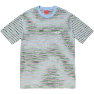 SUPREME - Camiseta Stripe Thermal ''Blue''