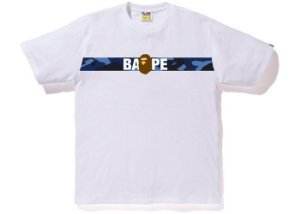 BAPE - Camiseta Tape Ape Blue ''White''
