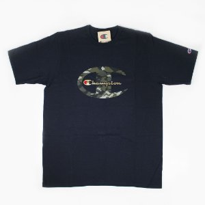"CHAMPION - Camiseta Camo C Gold Script ""Navy"""