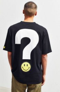 "GUESS X Chinatown Market - Camiseta Smiley Big Question Logo ""Black"""