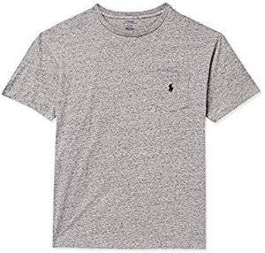 "POLO RALPH LAUREN - Camiseta Pocket ""Cinza"" -NOVO-"