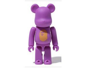 "Bearbrick X Bape 100% LA ""Purple"""