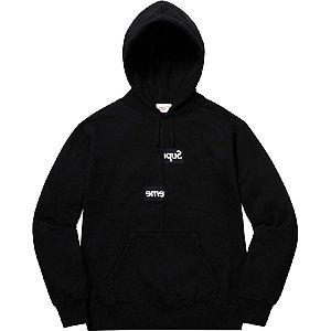 "Supreme x Comme des Garçons - Moletom Split Box Logo ""Black"""