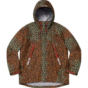 "Supreme x GORE-TEX - Jaqueta Taped Seam ""Leopard"""