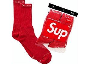 """SUPREME - Kit com 4 pares de meias Hanes """"Red"""""""