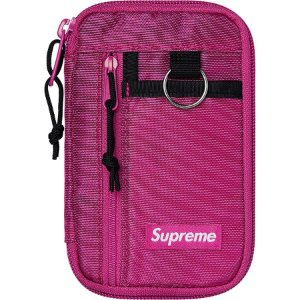 "SUPREME - Carteira Small Zip FW19 ""Magenta"" -NOVO-"
