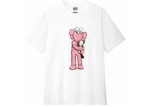"""UNIQLO x KAWS - Camiseta Pink BFF """"White"""""""