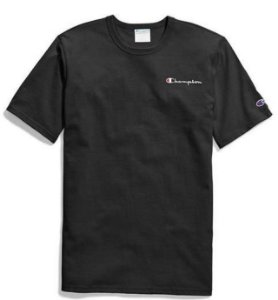 "CHAMPION - Camiseta Applique Logo ""Black"""