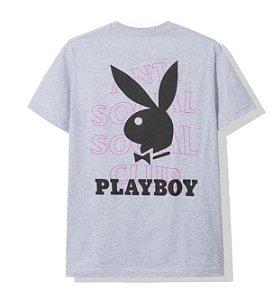"Anti Social Social Club x Playboy  - Camiseta Logo ""Grey"""
