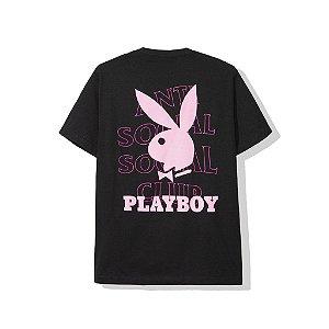 "Anti Social Social Club x Playboy  - Camiseta Logo ""Black"""
