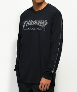"THRASHER - Camiseta Web Long ""Black"""