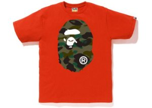 "BAPE - Camiseta 1st Camo Big Ape Head ""Orange"""