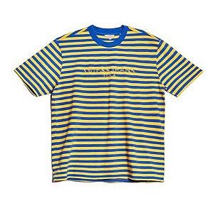"Guess x Asap Rocky - Camiseta Logo GUE$$ ""Yellow/Blue"""