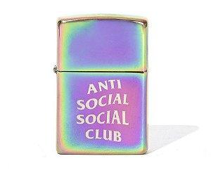 """ANTI SOCIAL SOCIAL CLUB x ZIPPO - Isqueiro """"Iridescent"""" -NOVO-"""