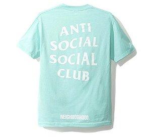 """Anti Social Social Club X Neighborhood - Camiseta Turbo """"Aqua"""""""