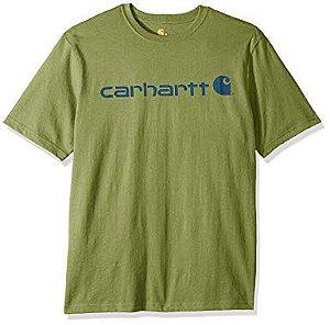 """CARHARTT- Camiseta Script Logo """"Olivine"""""""