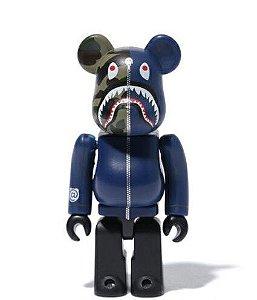 "Medicom Toy x Bape - Bearbrick 100% 1st Camo Shark ""Navy"""